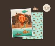 Vector cards steampunk Stock Photo