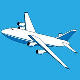 Vector cargo plane Stock Images