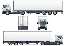 Vector cargo semi-truck. Vector illustration delivery/cargo truck  [ for branding ]. Available AI-10 separated by  groups (with transparecy option) for easy Stock Images