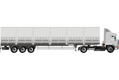 Vector cargo semi truck. Vector illustration heavy semi-truck. Isolated on white background with clipping path. Available EPS-8 format Stock Photos