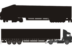 Vector cargo semi trucks Stock Photography