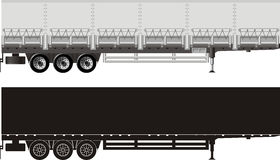 Vector cargo trailer Stock Images