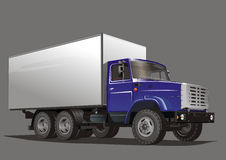 Vector cargo truck. Vector illustration of heavy truck ZIL-133G30. JPEG include clipping path on truck. Also avalable EPS-8 format Royalty Free Stock Photography