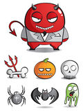Vector caricatures of monsters. For a holiday Halloween Royalty Free Stock Photography