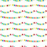 Vector carnaval seamless colorful pattern. Kids festive background with bright ribbons. Birthday, Party decor. Vector carnaval seamless colorful pattern. Kids Stock Image
