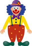 Vector Carnival clown. Vector image of a colorful clown Stock Images