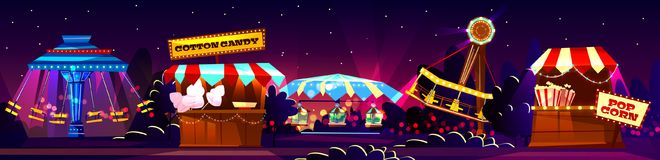 Vector carnival concept, circus entertainment, travelling festival vector illustration