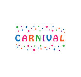Vector - Carnival festival celebration logo, isolated on white background. Vector illustration. Royalty Free Stock Photo