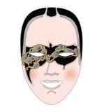 Vector carnival mask. Beautiful carnival mask.  illustration Royalty Free Stock Image