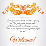 Vector carnival mask. Invitation design for fashion show, masque Royalty Free Stock Image