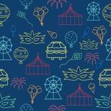Vector carnival indigo seamless pattern background. vector illustration