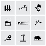 Vector Carpentry icon set Royalty Free Stock Photography