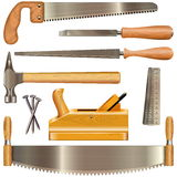 Vector Carpentry Tools. Isolated on white background Stock Photography