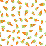 Vector Carrots Seamless Pattern Royalty Free Stock Photo