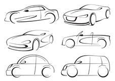 Vector cars. Car auto logo line art Stock Photos