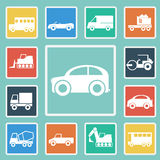 Vector of Cars icon set Stock Photos