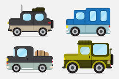 Vector : cars off road . Royalty Free Stock Images