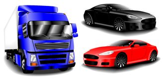 Vector cars set Stock Photography
