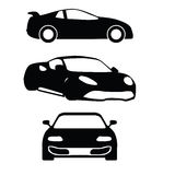 Vector cars silhouettes Stock Image