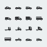 Vector cars / vehicles mini icons stock illustration