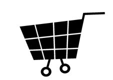 Vector cart Stock Image