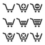 Vector cart icons Royalty Free Stock Images