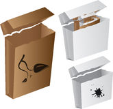 Vector carton box Royalty Free Stock Photography