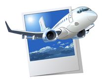 Vector Cartoon Airliner Royalty Free Stock Images