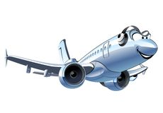 Vector Cartoon Airliner Stock Photos