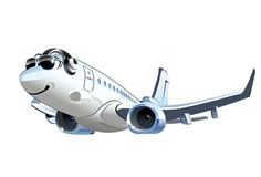 Vector Cartoon Airliner Royalty Free Stock Photos