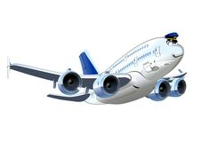 Vector Cartoon Airliner Royalty Free Stock Photo