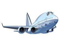 Vector Cartoon Airliner Stock Photography