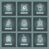 Vector cartoon aliens and monsters set Stock Photos