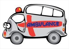 Vector cartoon ambulance car isolated on white Stock Photos