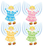 Vector cartoon angels Royalty Free Stock Image