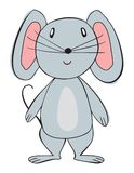 Vector cartoon animal. Sweet little mouse. Royalty Free Stock Photography