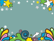 Vector cartoon background Royalty Free Stock Images
