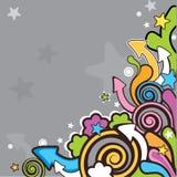 Vector cartoon background Stock Image