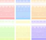 Vector Cartoon backgrounds set Royalty Free Stock Images