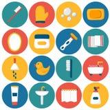 Vector cartoon bathroom icons Royalty Free Stock Photos
