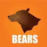 Vector cartoon bear. grizzle icon. bear muzzle Stock Photography