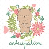 Vector cartoon bear Royalty Free Stock Images