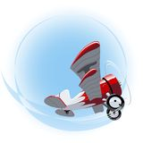 Vector Cartoon Biplane Royalty Free Stock Photos