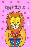 Vector cartoon birthday card Royalty Free Stock Photography