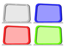 Vector cartoon blank boards in 4 colors Stock Image
