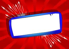 Cartoon blank paper on board on comic book background royalty free illustration