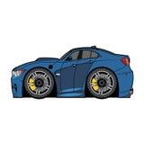Vector cartoon blue car Royalty Free Stock Photos