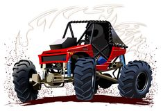 Vector Cartoon Buggy Royalty Free Stock Photos