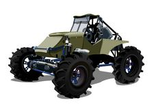 Vector Cartoon buggy Royalty Free Stock Image