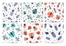 Vector cartoon bugs stock illustration